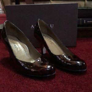 Anyi Lu Couture Comfort Patent Heel